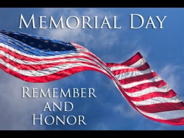 Have a Happy and Safe Memorial Day Weekend!
