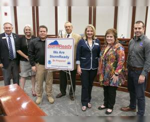 Forsyth County Recognized by the National Weather Service for Storm Preparedness
